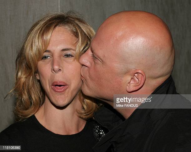 Season Four Premiere of 'The Shield' at the Pacific Design Center in Hollywood, United States on March 12, 2005 - Michelle and Michael Chiklis arrive...
