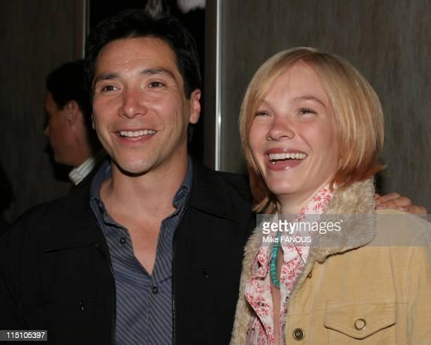 Season Four Premiere of 'The Shield' at the Pacific Design Center in Hollywood United States on March 12 2005 Benito Martinez and Abby Brammell...