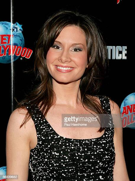 Season four runnerup Rebecca Jarvis attends The Apprentice season four finale after party at Planet Hollywood December 15 2005 in New York City