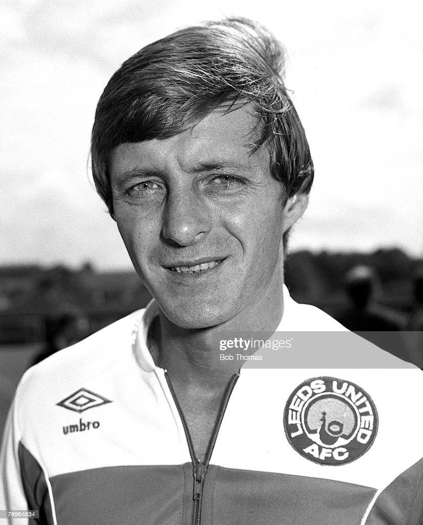1981-82 Season. Leeds United FC. Photo-call. A portrait of Manager Allan Clarke. : News Photo