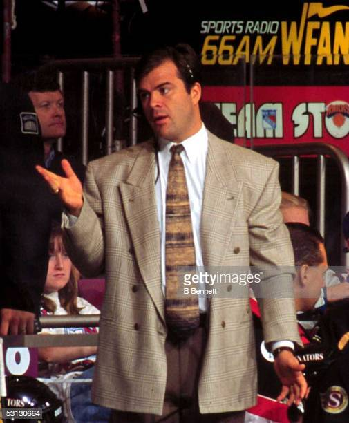 Montreal hired new coach Alain Vigneault shown here with the Ottawa Senators in 10/95