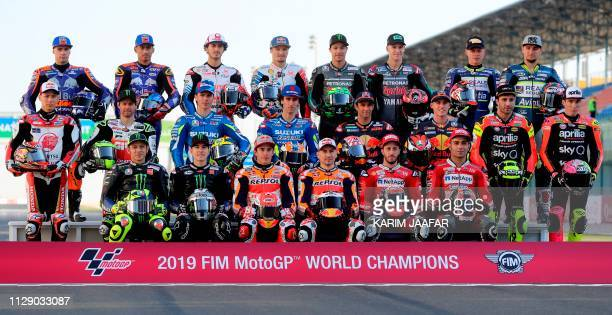 2019 season MotoGP riders Red Bull KTM Tech 3's Miguel Oliveira and Hafizh Syahrin Alma Pramac Racing's Francesco Bagnaia and Jack Miller Petronas...