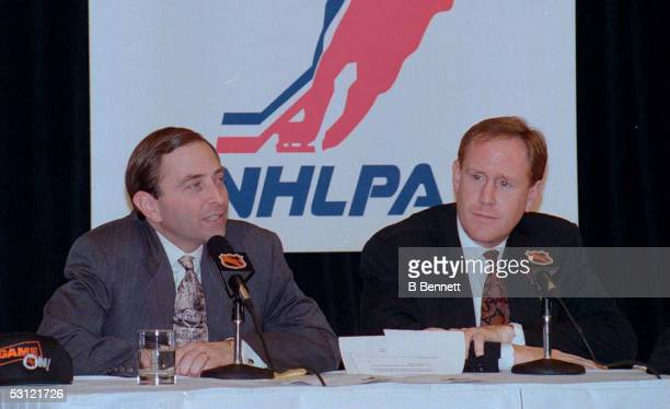 NHL Commissioner Gary Bettman discusses agreement reached with NHLPA Boss Bob Goodenow