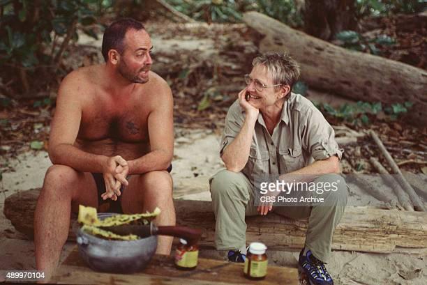 SURVIVOR Season One Pulau Tiga South China Sea Richard Hatch and Sonja Christopher May 2000
