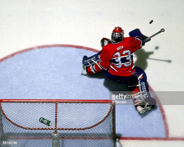 Patrick Roy blocker save from above
