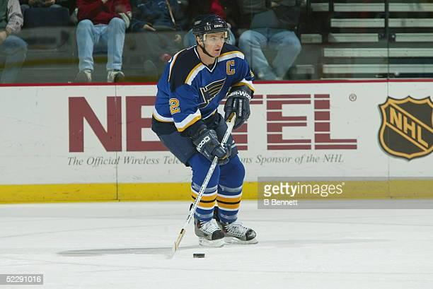 Player Al Macinnis of the St Louis Blues