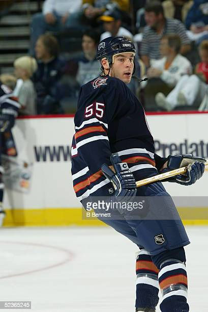 Player Alex Henry of the Edmonton Oilers