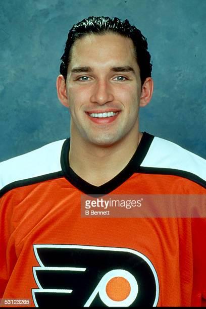 Player Alexandre Daigle of the Philadelphia Flyers And Player Alexandre Daigle