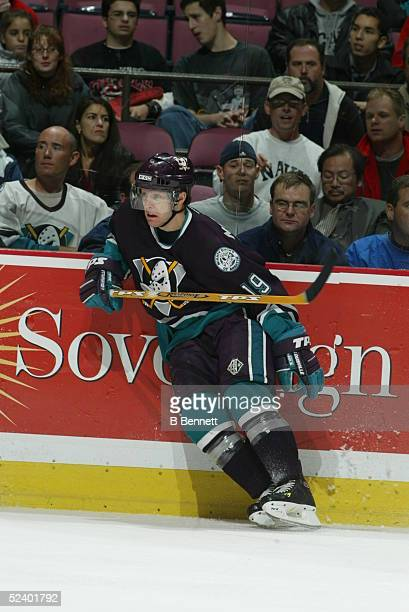 Player Andy Mcdonald of the Anaheim Mighty Ducks