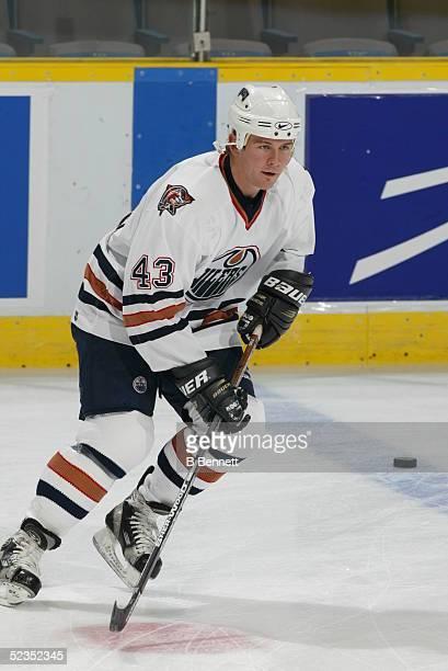 Player Chad Hinz of the Edmonton Oilers