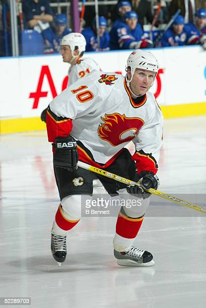 Player Dave Lowry of the Calgary Flames