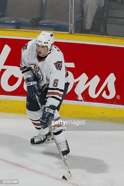 Player Doug Lynch of the Edmonton Oilers