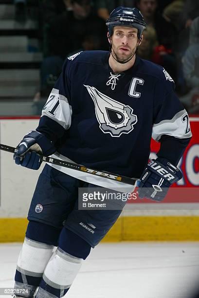 Player Jason Smith of the Edmonton Oilers