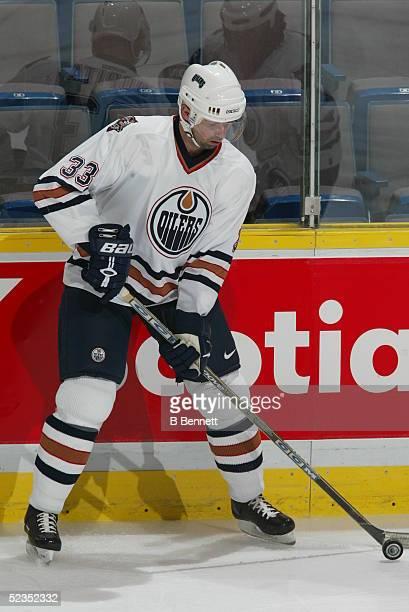 Player Jiri Dopita of the Edmonton Oilers