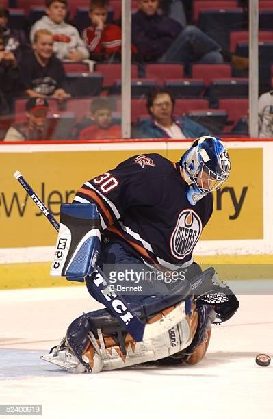 Player Jussi Markkanen of the Edmonton Oilers.