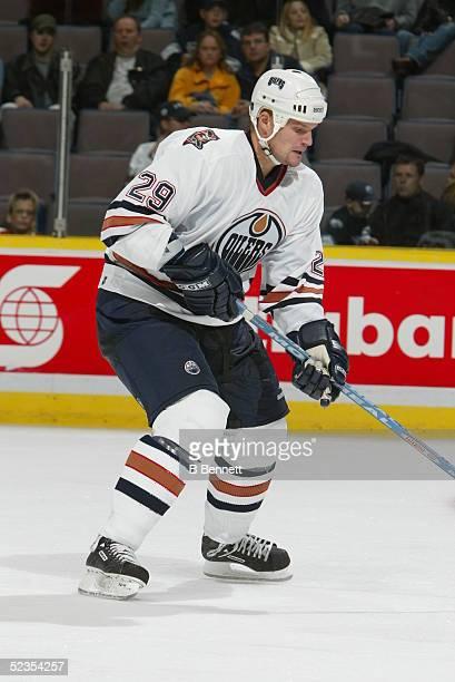 Player Kari Haakana of the Edmonton Oilers