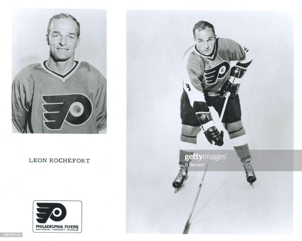Player Leon Rochefort of the Philadelphia Flyers... : News Photo