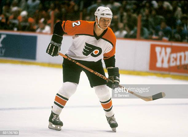 Player Mark Howe of the Philadelphia Flyers And Player Mark Howe