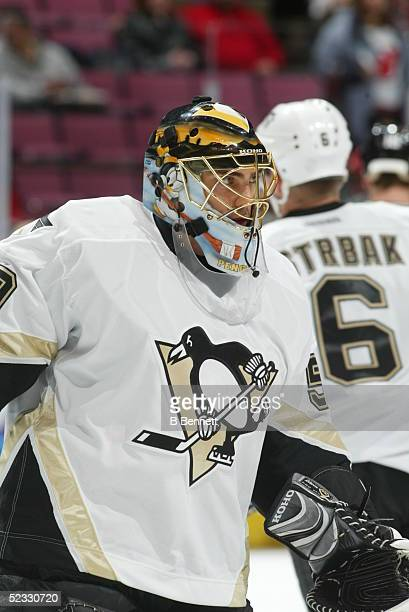 Player Martin Brochu of the Pittsburgh Penguins