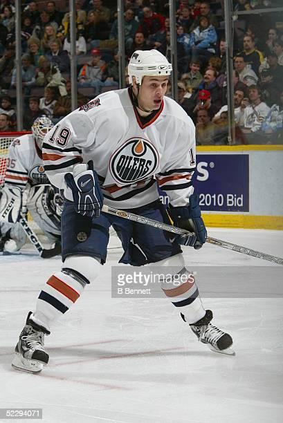 Player Marty Reasoner of the Edmonton Oilers
