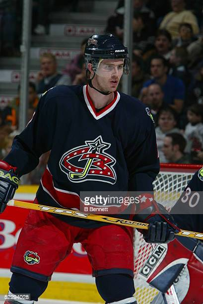 Player Paul Manning of the Columbus Blue Jackets