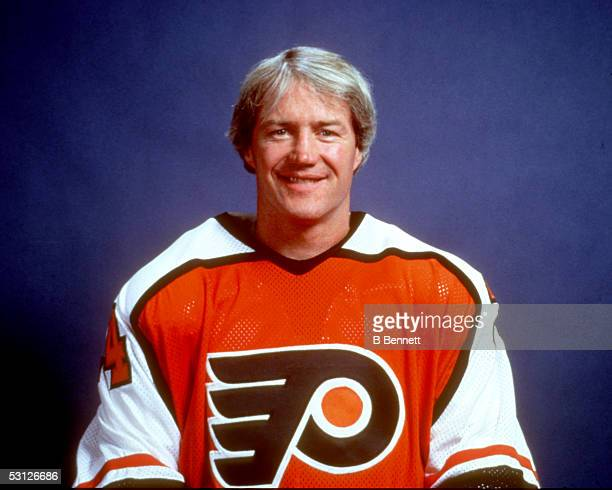 Player Randy Holt of the Philadelphia Flyers And Player Randy Holt