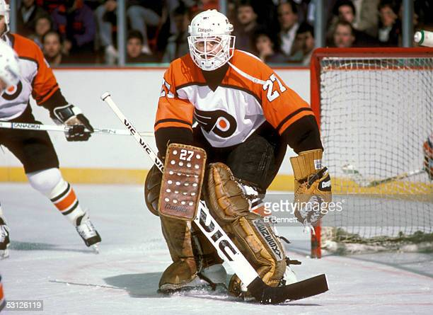 Player Ron Hextall of the Philadelphia Flyers