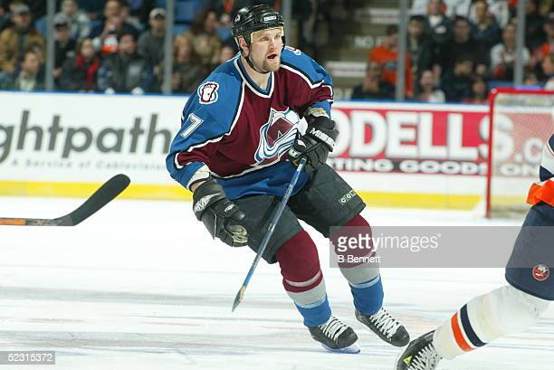 Player Scott Parker of the Colorado Avalanche