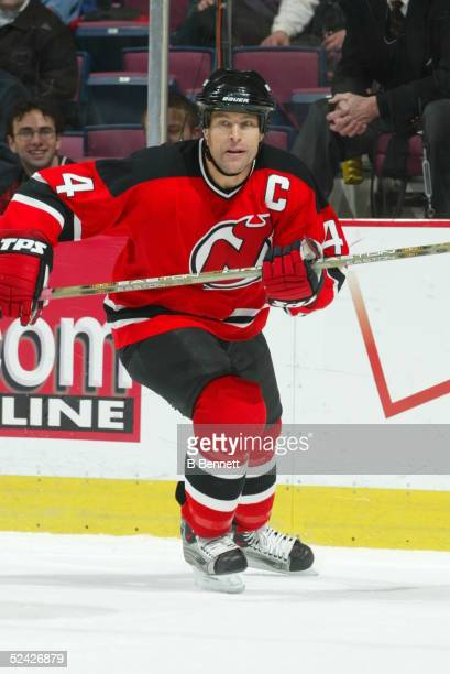 Player Scott Stevens of the New Jersey Devils