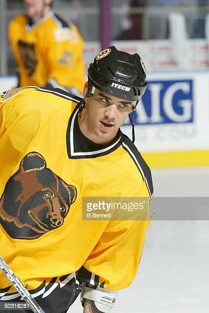 Player Sean Brown of the Boston Bruins