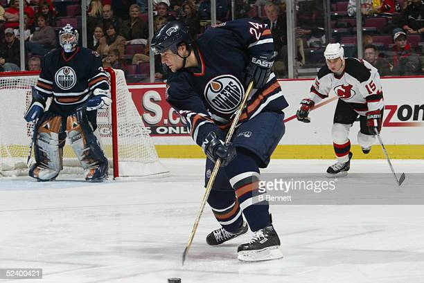 Player Steve Staios of the Edmonton Oilers