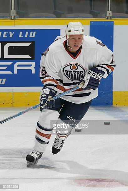 Player Tony Salmelainen of the Edmonton Oilers