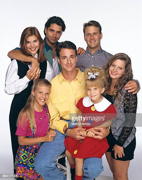 HOUSE Season Seven Gallery 9/14/93 Pictured back row Lori Loughlin John Stamos Dave Coulier bottom row Jodie Sweetin Bob Saget Mary Kate Olsen...