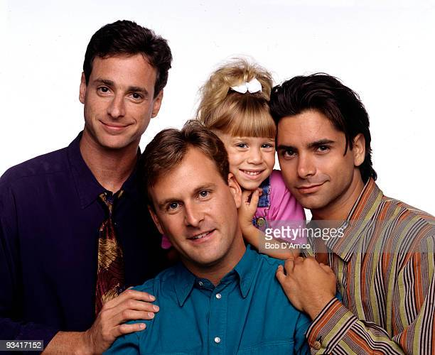 HOUSE Season Seven Gallery 9/14/93 Pictured from left Bob Saget Dave Coulier Mary Kate Olsen John Stamos