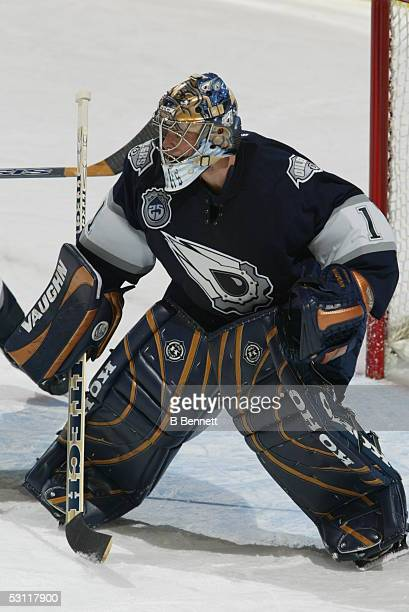 Toronto Maple Leafs at Edmonton Oilers November 20 2003 And Player Ty Conklin