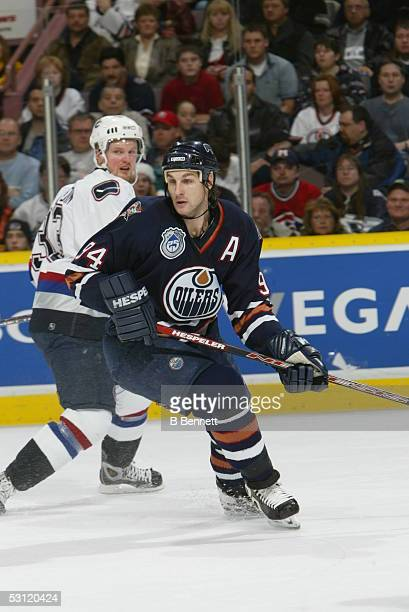 Vancouver Canucks at Edmonton Oilers December 20 2003 And Player Ryan Smyth