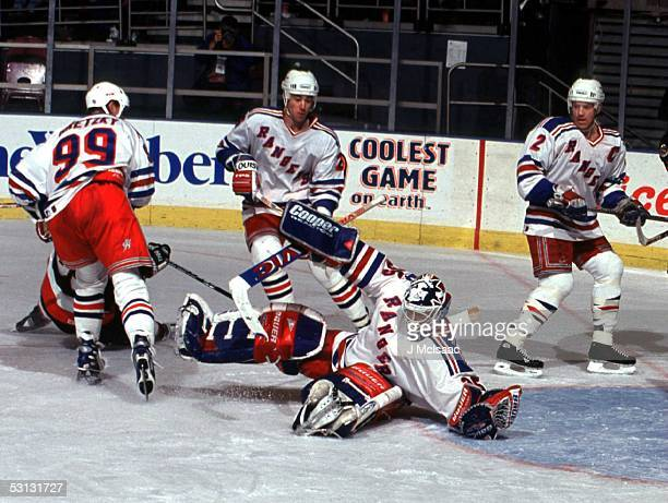 Wayne Gretzky Jeff Finley Brian Leetch and Mike Richter