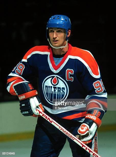 Wayne Gretzky with Edmonton.