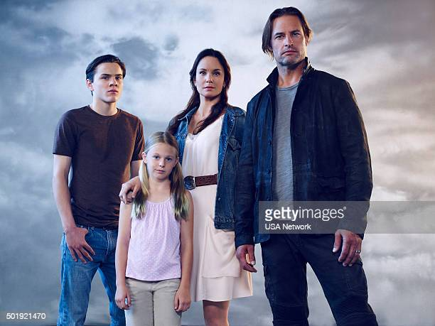 Pictured: Alex Neustaedter as Bram Bowman, Isabella Crovetti-Cramp as Grace Sullivan, Sarah Wayne Callies as Katie Bowman, Josh Holloway as Will...