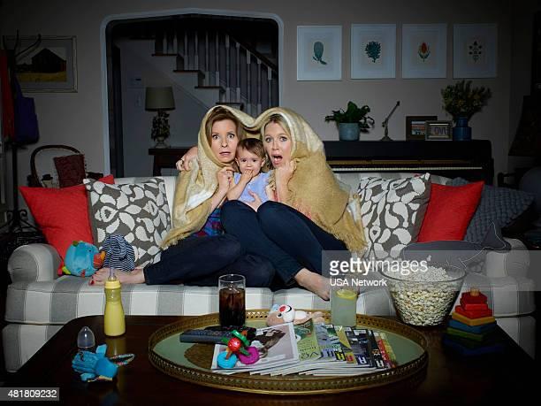 2 Pictured Lennon Parham as Maggie Caruso Tatum Conte as Charlotte Caruso Jessica St Clair as Emma Crawford