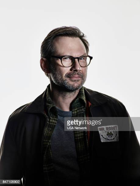 3 Pictured Christian Slater as Mr Robot