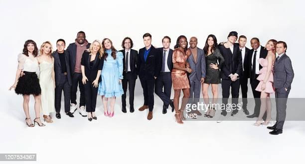 Season:45 -- Pictured: Melissa Villaseñor, Chloe Fineman, Bowen Yang, Michael Che, Kate McKinnon, Aidy Bryant, Kyle Mooney, Colin Jost, Beck Bennett,...