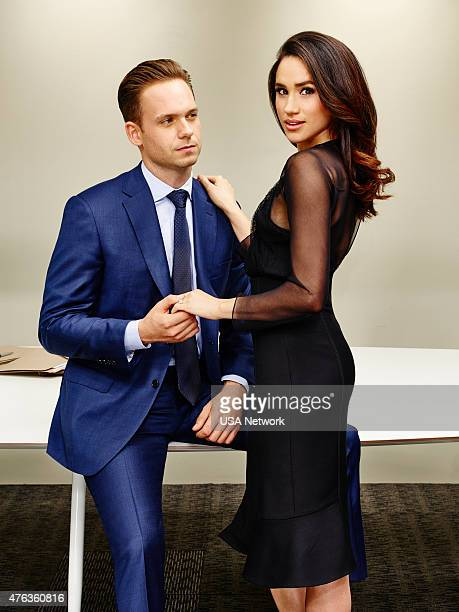 5 Pictured Patrick J Adams as Michael Ross Meghan Markle as Rachel Zane