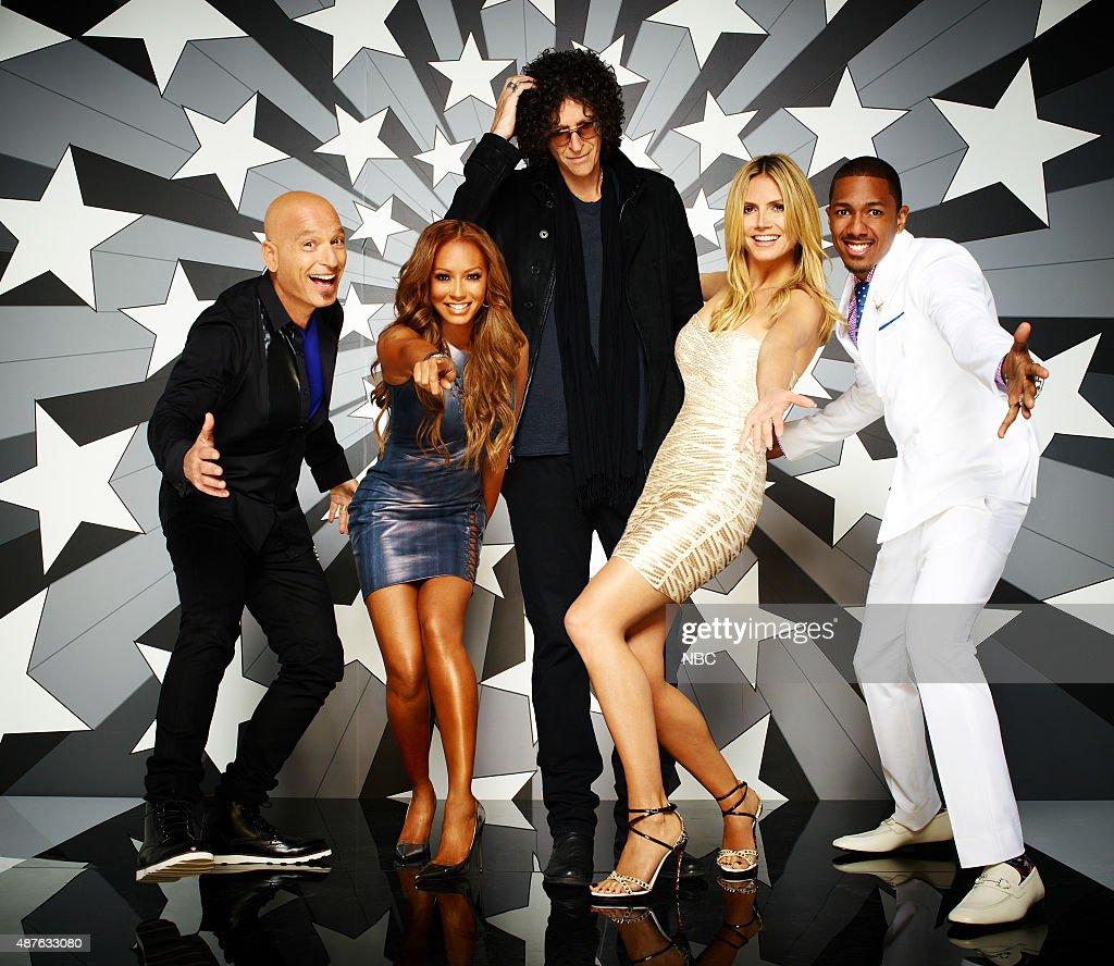 8 -- Pictured: (l-r) Howie Mandel, Mel B, Howard Stern, Heidi Klum, Nick Cannon --