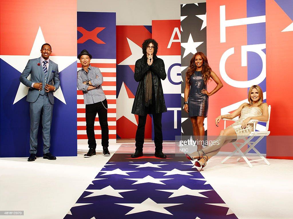 8 -- Pictured: Nick Cannon, Howie Mandel, Howard Stern, Mel B, Heidi Klum --