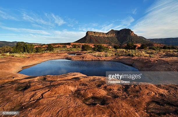 seasonal potholes at toroweap - waterhole stock pictures, royalty-free photos & images