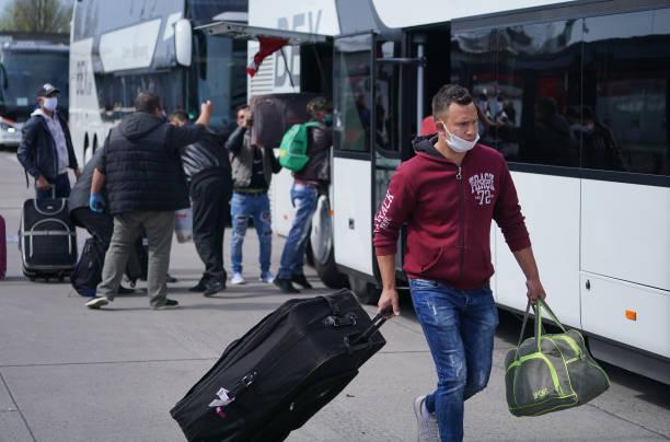 DEU: Seasonal Workers Arrive For Agricultural Harvests During The Coronavirus Crisis
