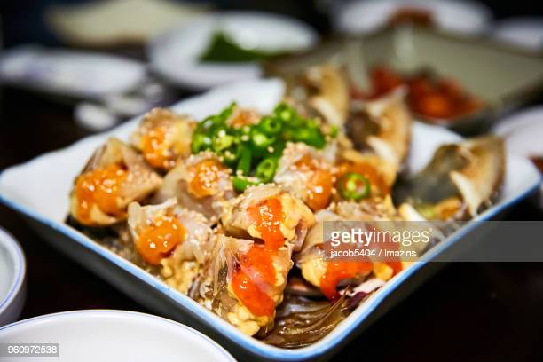 Seasoned crab with soy sauce