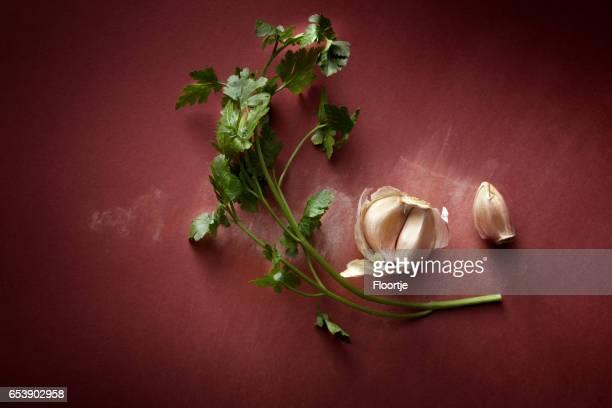Seasoning: Garlic and Parsley Still Life