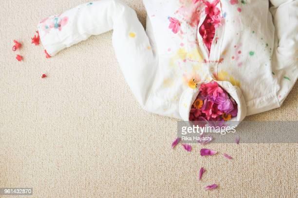 seasons overflow from clothes - pintura equipo de arte y artesanía fotografías e imágenes de stock